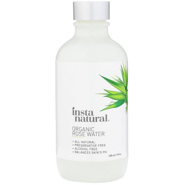 InstaNatural, オーガニックローズウォーター、4 fl oz (120 ml)