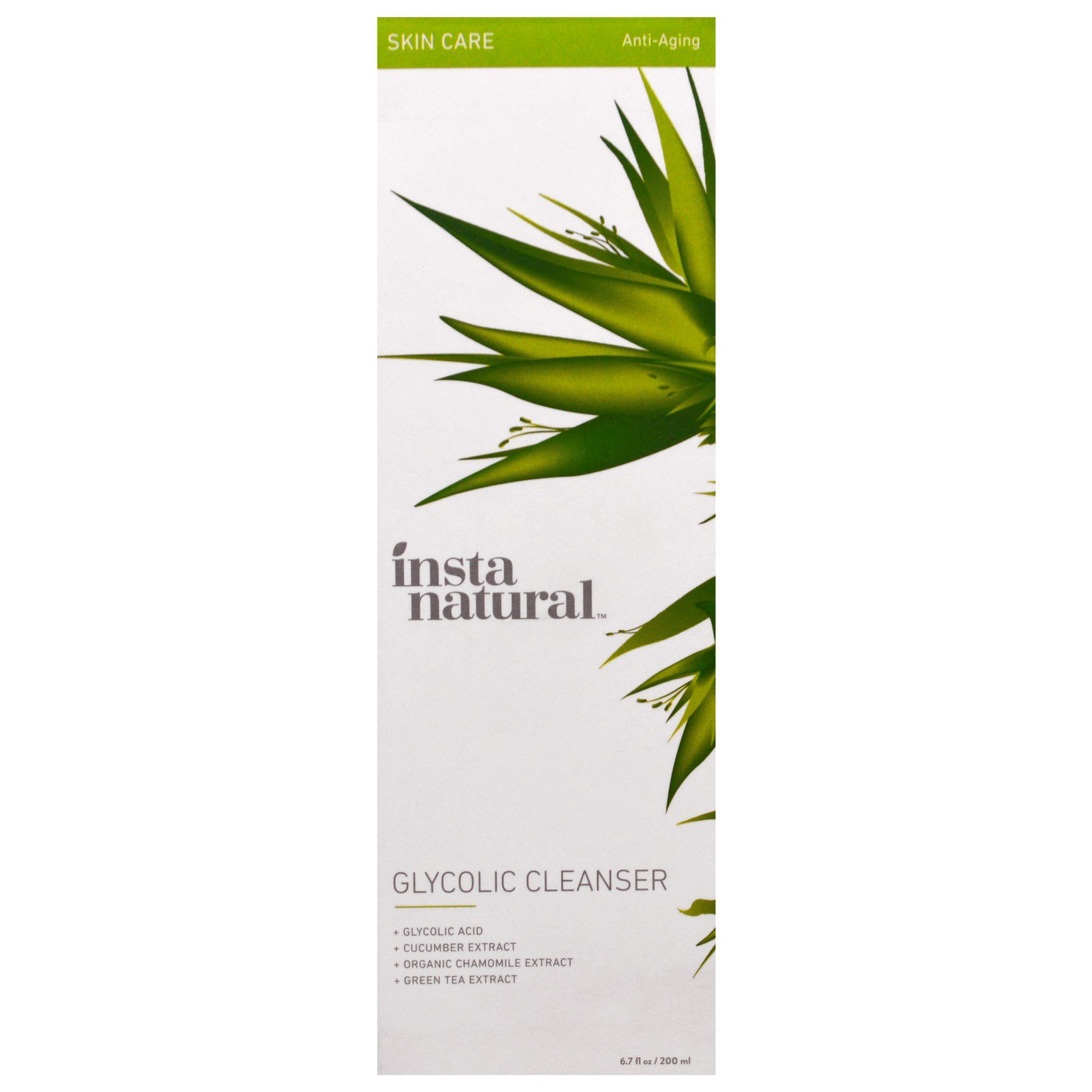 Facial glycolic herbal wash