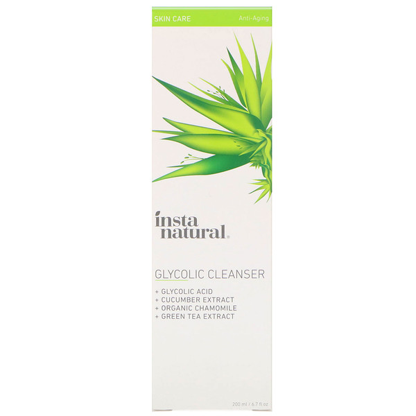 InstaNatural, Glycolic Cleanser, Anti-Aging, 6.7 fl oz (200 ml)