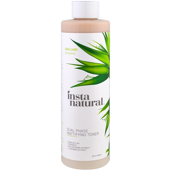 InstaNatural, Dual Phase Mattifying Facial Toner, For Oily Skin, 8 fl oz (240 ml) (Discontinued Item)