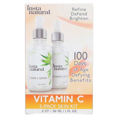 Купить Сыворотка с витамином C, комплект из 2 средств для ухода за кожей, 1 ж. унц. (30 мл) каждый