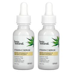 InstaNatural, 維生素 C 精華套裝,2 瓶,1 液量盎司(30 毫升)/瓶