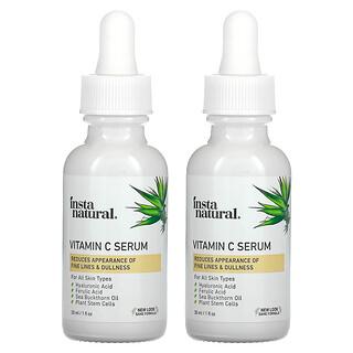 InstaNatural, 维生素 C 精华套装,2 瓶,1 液量盎司(30 毫升)/瓶