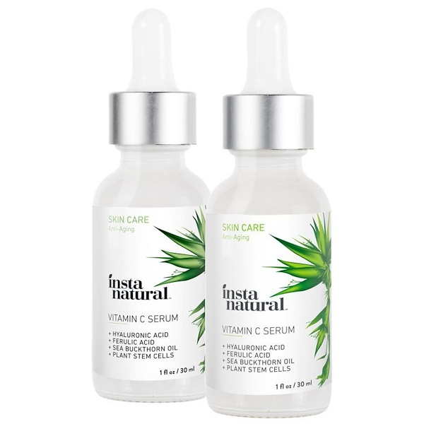 InstaNatural, Vitamin C Serum 2-Pack Skin Kit, 2 Pack, 1 fl. oz (30 ml) Each