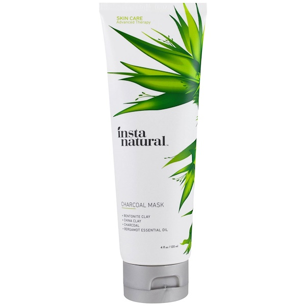 InstaNatural, Charcoal Facial Mask, Clay Mask for Acne & Oily Skin, 4 fl oz (120 ml)