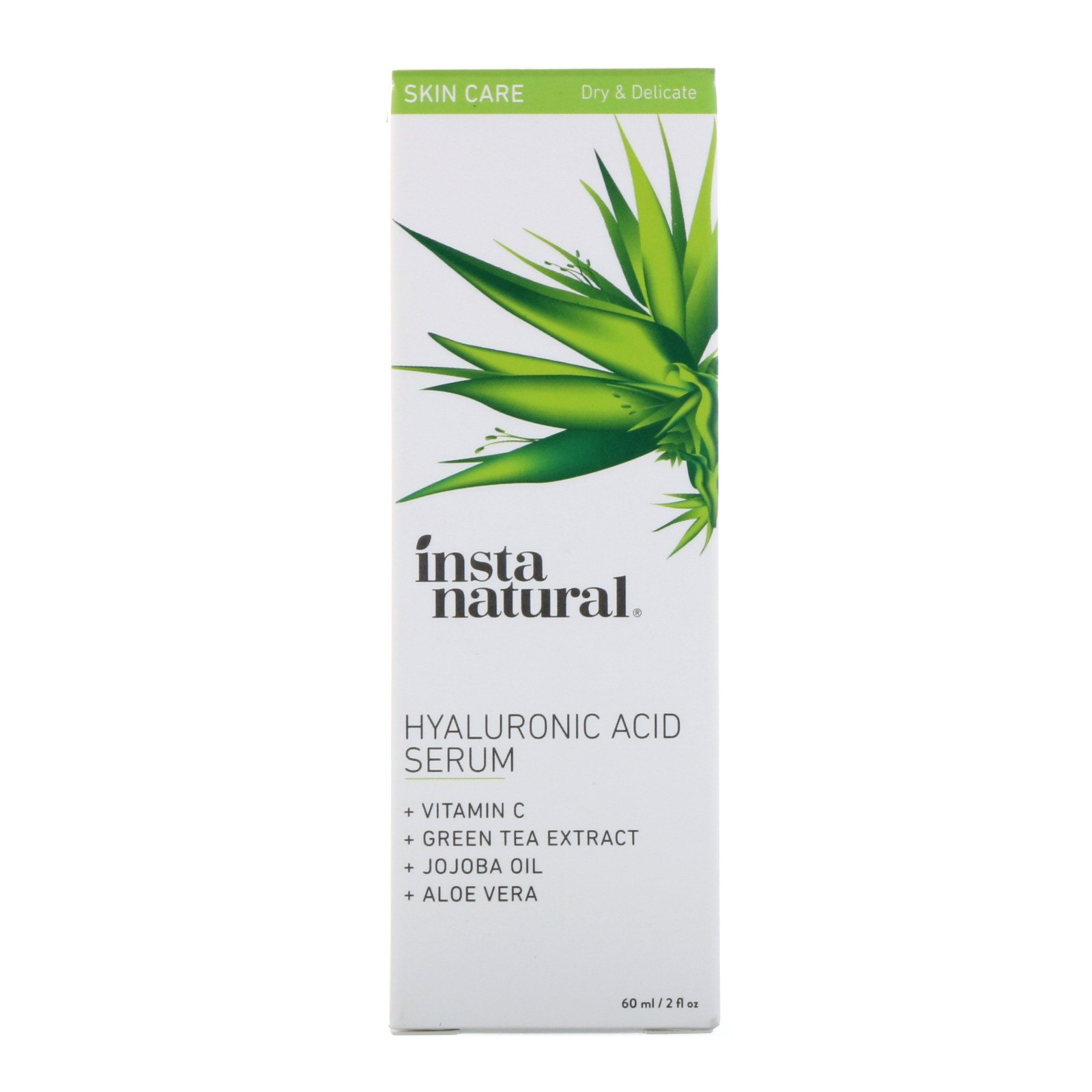 36daa3252bf InstaNatural, Hyaluronic Acid Serum with Vitamin C, 2 fl oz (60 ml ...