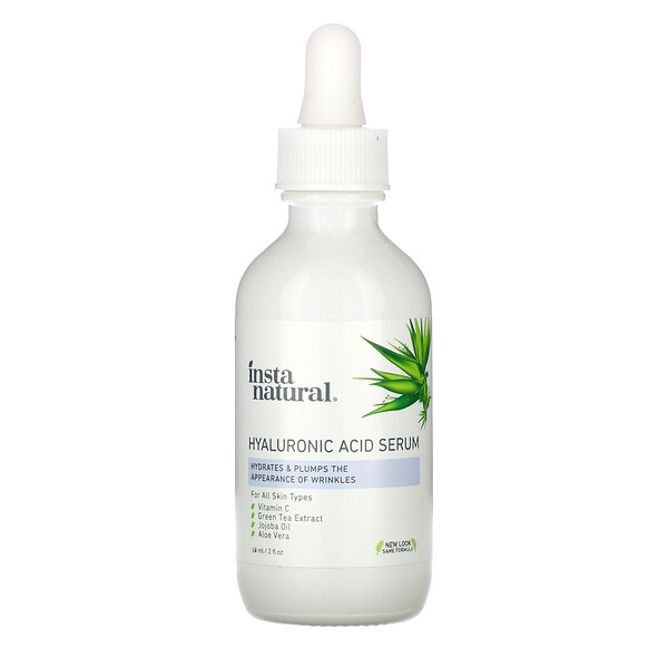 InstaNatural, Sérum de ácido hialurónico, 60 ml (2 oz. líq.)