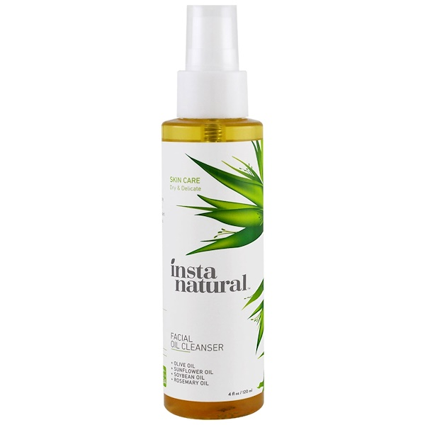 InstaNatural, Facial Oil Cleanser, For Dry & Sensitive Skin,  4 fl oz (120 ml) (Discontinued Item)