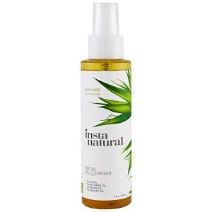 Инстанатурал, Facial Oil Cleanser, For Dry & Sensitive Skin,  4 fl oz (120 ml) отзывы покупателей
