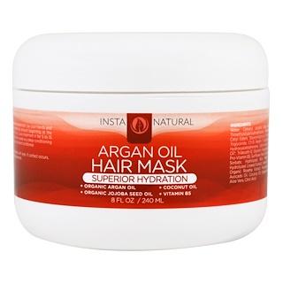 InstaNatural, Argan Oil Hair Mask, Deep Conditioner, 8 fl oz (240 ml)