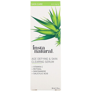 InstaNatural, Dem Alter trotzendes & hautreinigendes Serum, Anti-Aging, 1 fl oz (30 ml)