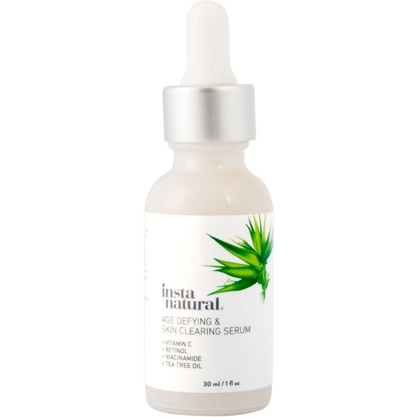 InstaNatural, Age-Defying & Skin Clearing Serum, Anti-Aging, 1 fl oz (30 ml)