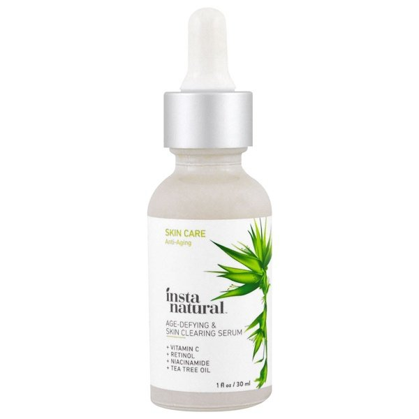 InstaNatural, Age-Defying & Skin Clearing Vitamin C Facial Serum with Retinol + Salicylic Acid, 1 fl oz (30 ml)