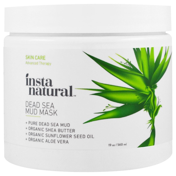 InstaNatural, Dead Sea Mud Mask with Shea Butter, Face & Body, 19 oz (560 ml) (Discontinued Item)