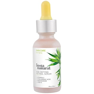 InstaNatural, Retinol Serum, With Vitamin C + Hyaluronic ACid, 1 fl oz (30 ml)