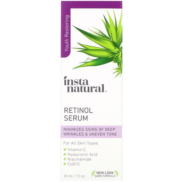 InstaNatural, Retinol Serum, Youth Restoring, 1 fl oz (30 ml)