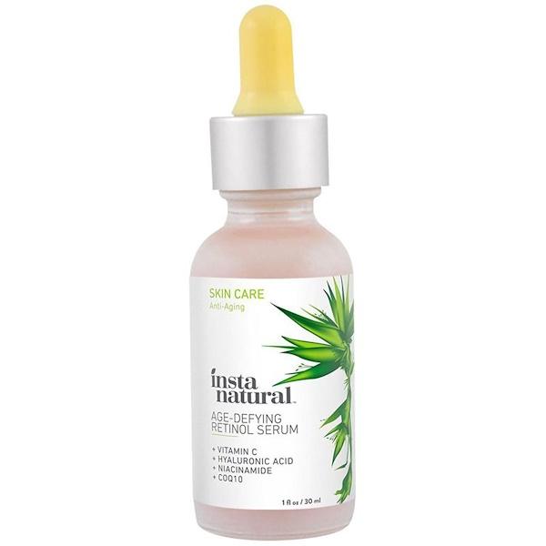InstaNatural, Retinol Serum, With Vitamin C + Hyaluronic ACid, 1 fl oz (30 ml)
