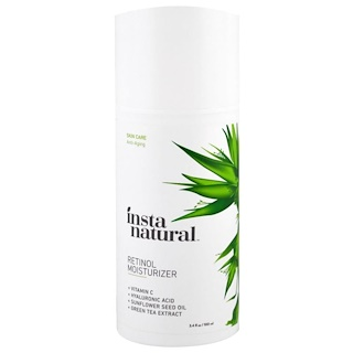 InstaNatural, Retinol Vitamin A Cream with Hyaluronic Acid + Vitamin C, Anti-Aging, 3.4 fl oz (100 ml)