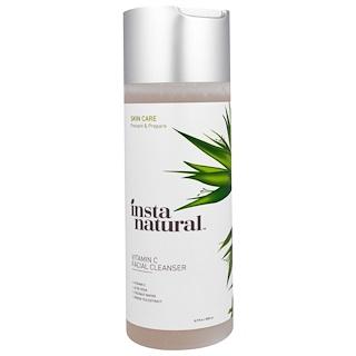 InstaNatural, ビタミンC・ブライトニング・フェイシャル・クレンザー, 6.7液体オンス (200 ml)