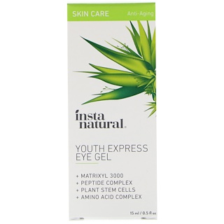 InstaNatural, Eye Gel Cream with Hyaluronic Acid + Plant Stem Cells, 0.5 fl oz (15 ml)