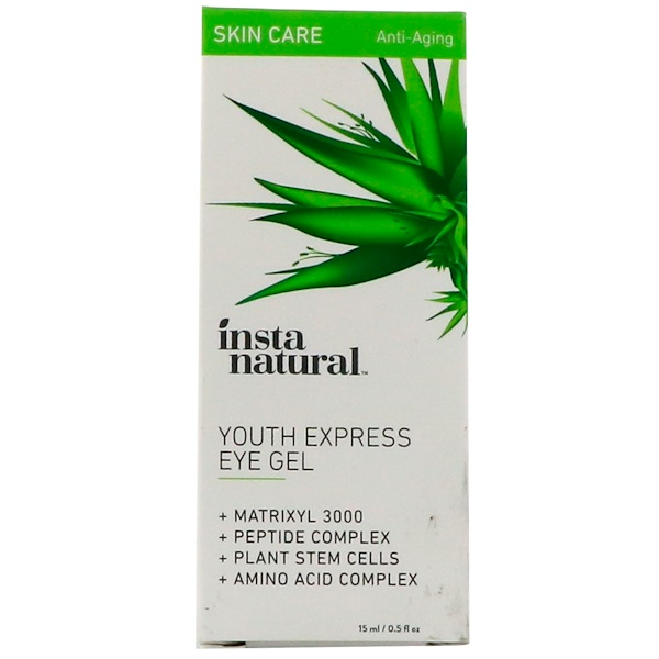 InstaNatural, Eye Gel Cream with Hyaluronic Acid + Plant Stem Cells, 0.5 fl oz (15 ml)