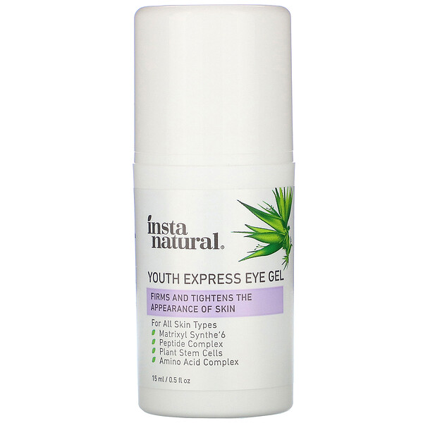 InstaNatural, Youth Restoring, Youth Express Eye Gel, 0.5 fl oz (15 ml)