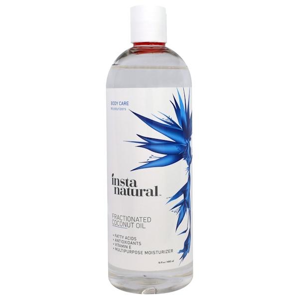 InstaNatural, Pure Fractionated Coconut Oil, Liquid Moisturizer, 16 fl oz (480 ml) (Discontinued Item)