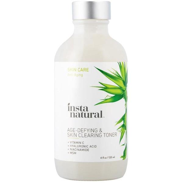 InstaNatural, 加齢対策 & スキンクリーニングトナー, 4液量オン (120 ml)