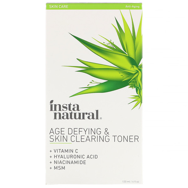 InstaNatural, Age-Defying & Skin Clearing Toner, Anti-Aging, 4 fl oz (120 ml)