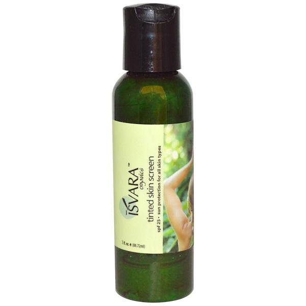 Isvara Organics, Tinted Skin Screen, SPF 25, 3 fl oz (88.72 ml) (Discontinued Item)
