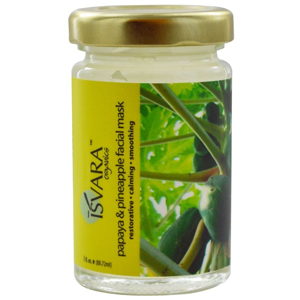 Isvara Organics, Papaya & Pineapple Facial Mask, 3 fl oz (88.72 ml) (Discontinued Item)