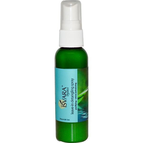 Isvara Organics, ليف-ان بخاخ لفك تشابك الشعر، 3 أوقية سائلة (88.72 مل) (Discontinued Item)