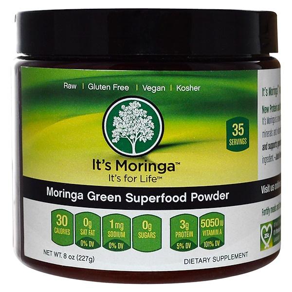 It's Moringa, Green Superfood Powder, 8 oz (227 g) (Discontinued Item)