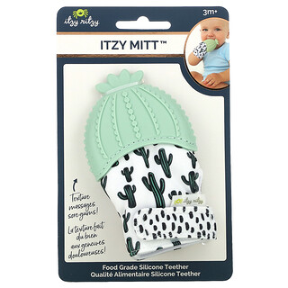 Itzy Ritzy, Itzy Mitt, Food Grade Silicone Teether, 3+ Months, Cactus, 1 Teether