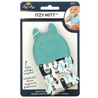 Itzy Ritzy, Itzy Mitt, Food Grade Silicone Teether, 3+ Months, Llama, 1 Teether
