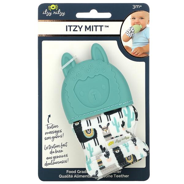 Itzy Mitt, Food Grade Silicone Teether, 3+ Months, Llama, 1 Teether