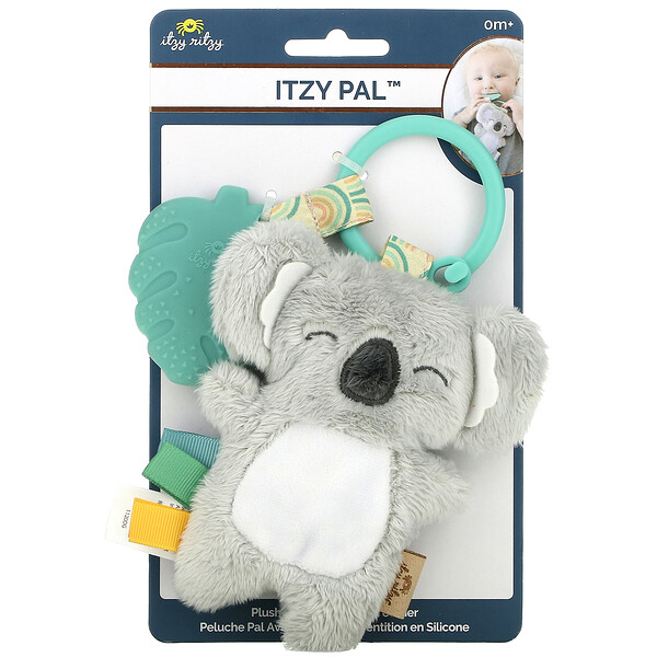 Itzy Ritzy, Itzy Pal, Plush Pal with Silicone Teether, 0+ Months, Koala, 1 Teether