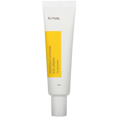 Купить IUNIK Propolis Vitamin Eye Cream, For Eye & Face, 30 ml