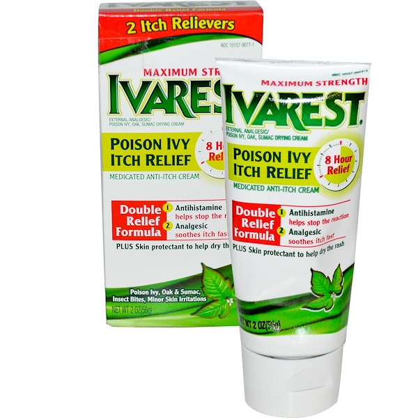 Ivarest, Poison Ivy Itch Relief, Medicated Anti-Itch Cream, 2 oz (56 g) (Discontinued Item)