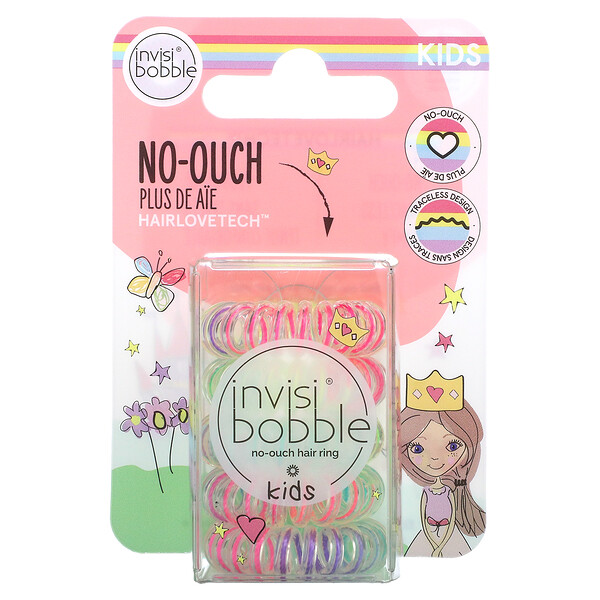 Kids, No Ouch Hair Ring, Magic Rainbow, 5 Pack