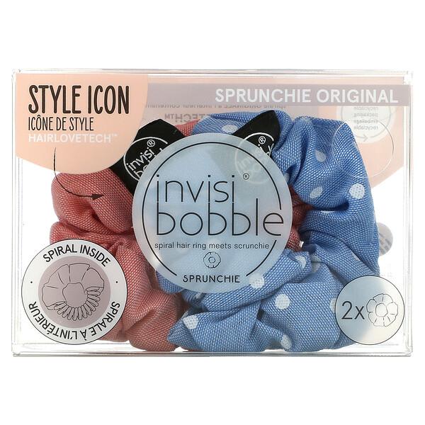 Sprunchie Original, Dots It/No Morals But Corals, 2 Pack