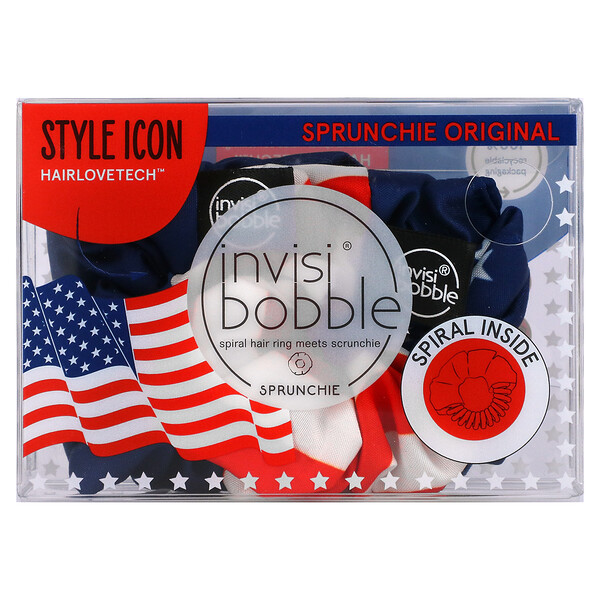 Sprunchie Original, American Flag, 2 Pack