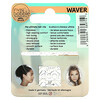Invisibobble, Waver, Traceless Hair Clip, Crystal Clear, 3 Pack