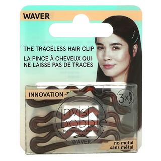 Invisibobble, Waver, Traceless Hair Clip, Pretty Dark, 3 Pack