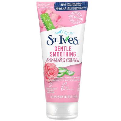 St. Ives Gentle Smoothing Scrub, Rose Water & Aloe Vera, 6 oz (170 g)