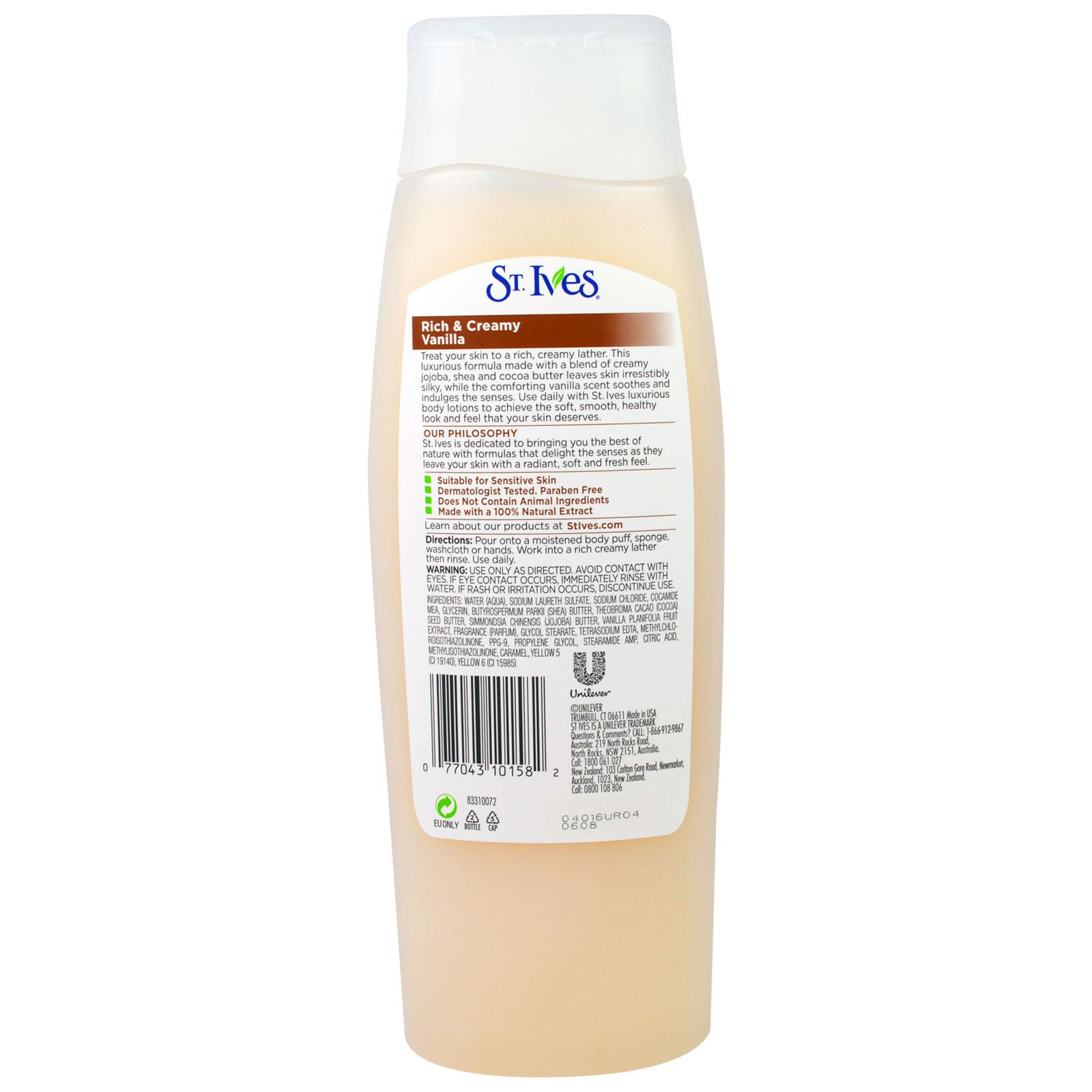 St Ives Rich Creamy Vanilla Body Wash 135 Fl Oz 400 Ml Sea Salt Ampamp Pacific Kelp Exfoliating 400ml By Click To Zoom