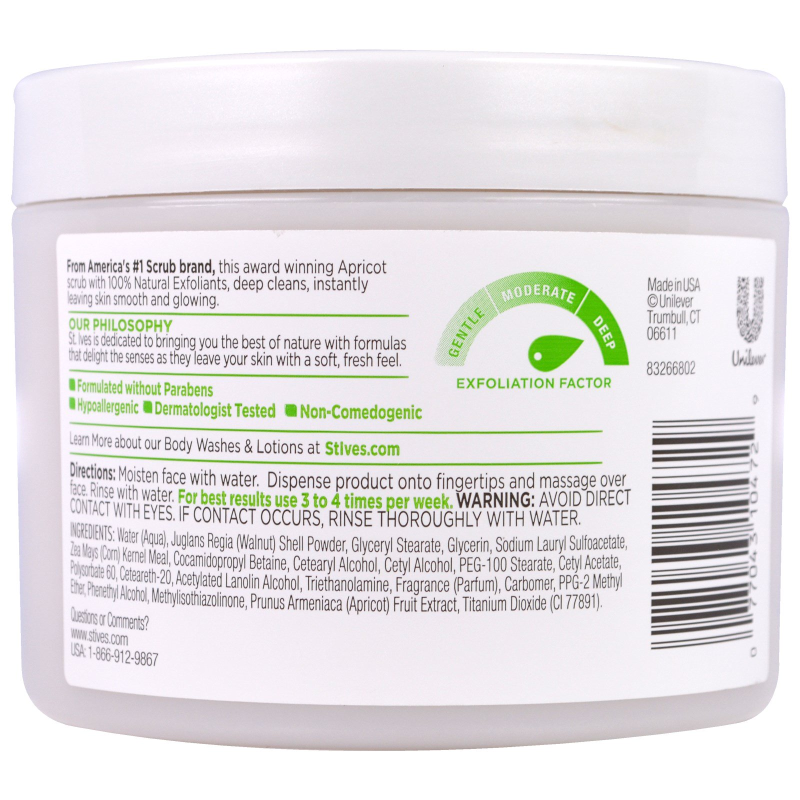 St Ives Fresh Skin Apricot Scrub 10 Oz 283 G Stives Blemish Control By Click To Zoom
