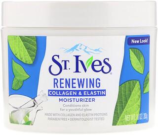 St. Ives, Hidratante renovador de colágeno e elastina, 10 oz (283 g)