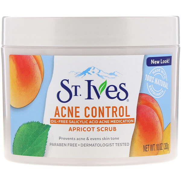 St. Ives, にきびコントロール・アプリコット・スクラブ、283g(10oz) (Discontinued Item)