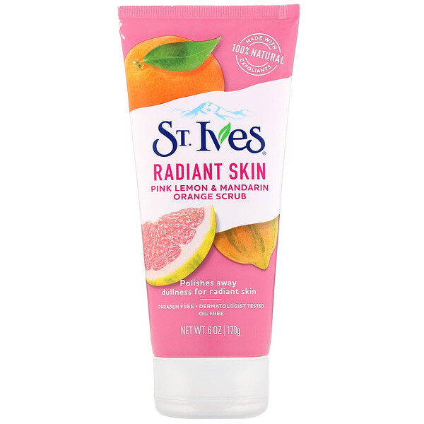 St. Ives, Radiant Skin, Pink Lemon & Mandarin Orange Scrub, 6 oz (170 g)